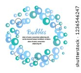 blue bubbles circle frame.... | Shutterstock .eps vector #1236546247