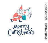 merry christmas and happy new... | Shutterstock .eps vector #1236551014