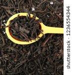 dried black tea leaves | Shutterstock . vector #1236554344