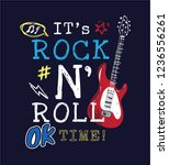 rock and roll slogan with icons ... | Shutterstock .eps vector #1236556261