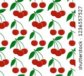 seamless pattern from ripe red... | Shutterstock . vector #1236557527