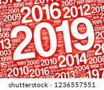 2019 happy new year and...   Shutterstock .eps vector #1236557551
