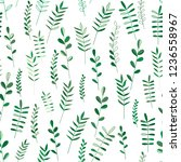 seamless pattern floral nature... | Shutterstock .eps vector #1236558967