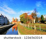 Mill Gate and Ina river, Stargard, Poland.