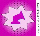 floodlight .purple icon pop art ... | Shutterstock .eps vector #1236569674