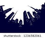 night modern city street low... | Shutterstock .eps vector #1236582061