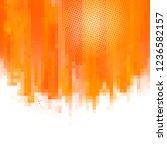 orange abstract paint splashes... | Shutterstock .eps vector #1236582157