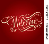 Welcome Hand Lettering ...