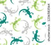 seamless green watercolor... | Shutterstock .eps vector #1236583564