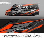 cargo van car wrap design... | Shutterstock .eps vector #1236586291