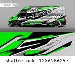 cargo van car wrap design... | Shutterstock .eps vector #1236586297