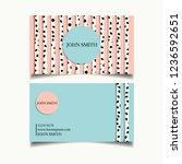 card vector background | Shutterstock .eps vector #1236592651