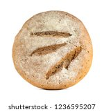 fresh baked bread on white... | Shutterstock . vector #1236595207
