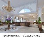 beautiful wooden reception in... | Shutterstock . vector #1236597757
