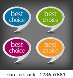 speech bubbles set vector... | Shutterstock .eps vector #123659881
