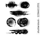 grunge brushes   vector... | Shutterstock .eps vector #1236611551
