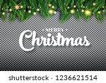 merry christmas. fir branch... | Shutterstock .eps vector #1236621514