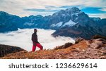 clouds in the valley under the... | Shutterstock . vector #1236629614