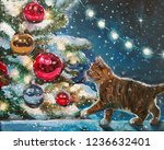 Christmas Oil Painting For...