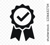 quality icon  certified check... | Shutterstock .eps vector #1236632734