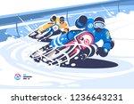 winter motocross flat style... | Shutterstock .eps vector #1236643231