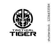tactical tiger logo design | Shutterstock .eps vector #1236653584