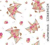 cute hand drawn unicorn pattern ...   Shutterstock .eps vector #1236654124