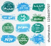 labels with christmas and new... | Shutterstock .eps vector #1236659707