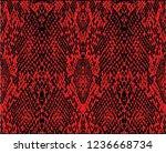 red snake print vector funny... | Shutterstock .eps vector #1236668734