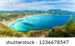 landscape with agios georgios... | Shutterstock . vector #1236678547