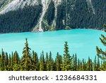 canadian rockies glacial lake... | Shutterstock . vector #1236684331