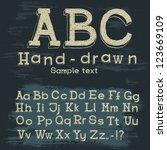 alphabet  numbers | Shutterstock .eps vector #123669109