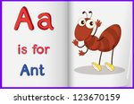 illustration of an ant in a...   Shutterstock .eps vector #123670159