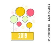 creative happy new year 2019... | Shutterstock .eps vector #1236701881