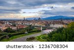 dawn over florence. view from... | Shutterstock . vector #1236708304