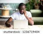 focused african american man... | Shutterstock . vector #1236719404