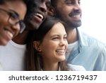 happy smiling multiethnic... | Shutterstock . vector #1236719437