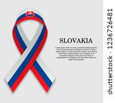 flag of slovakia on stripe... | Shutterstock .eps vector #1236726481