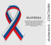 flag of slovenia on stripe... | Shutterstock .eps vector #1236726484