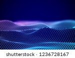 big data abstract visualization ... | Shutterstock .eps vector #1236728167