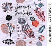 seasons greetings print design...   Shutterstock .eps vector #1236729244