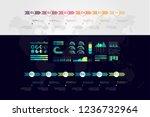 timeline vector infographic....   Shutterstock .eps vector #1236732964