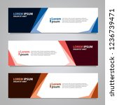 vector design banner background ...   Shutterstock .eps vector #1236739471