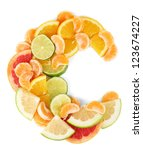 products containing vitamin c... | Shutterstock . vector #123674227