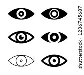 eye icon vector  view symbol set | Shutterstock .eps vector #1236745687