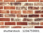 old red brick wall background... | Shutterstock . vector #1236753001