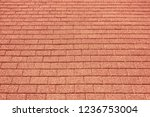 red stone pavement texture... | Shutterstock . vector #1236753004