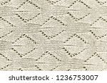 white wool sweater texture... | Shutterstock . vector #1236753007