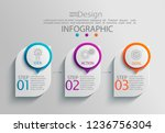 paper infographic template with ... | Shutterstock .eps vector #1236756304