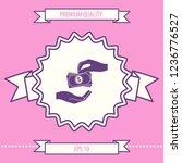 receiving money banknotes stack ... | Shutterstock .eps vector #1236776527
